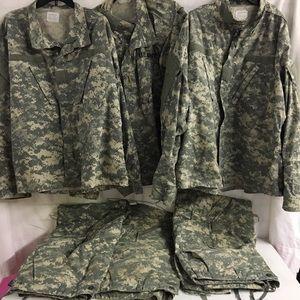 Authentic Military Shirts & Pants Lot 6 EUC